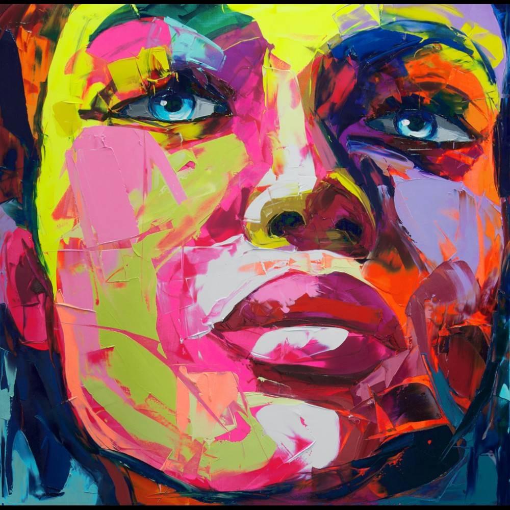 Francoise Nielly Portrait Palette Painting Expression Face143