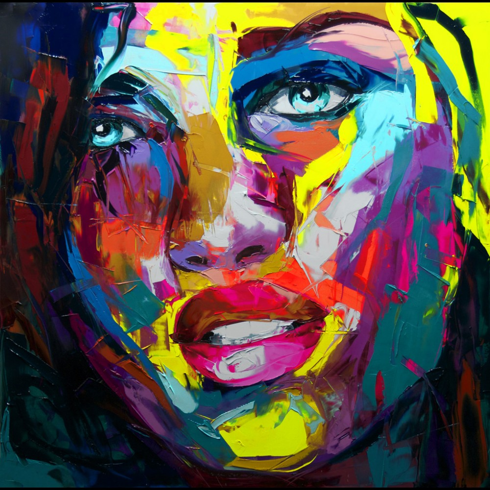 Francoise Nielly Portrait Palette Painting Expression Face147