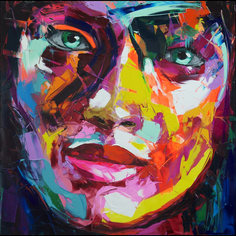 Francoise Nielly Portrait Palette Painting Expression Face152