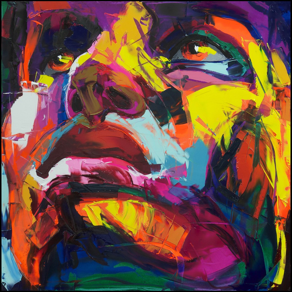 Francoise Nielly Portrait Palette Painting Expression Face153