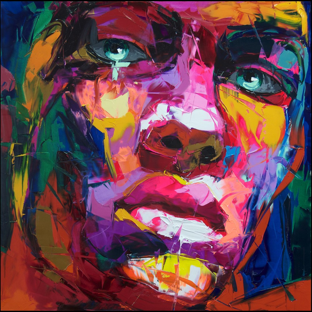 Francoise Nielly Portrait Palette Painting Expression Face154