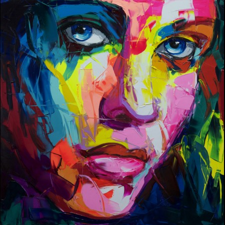 Francoise Nielly Portrait Palette Painting Expression Face158