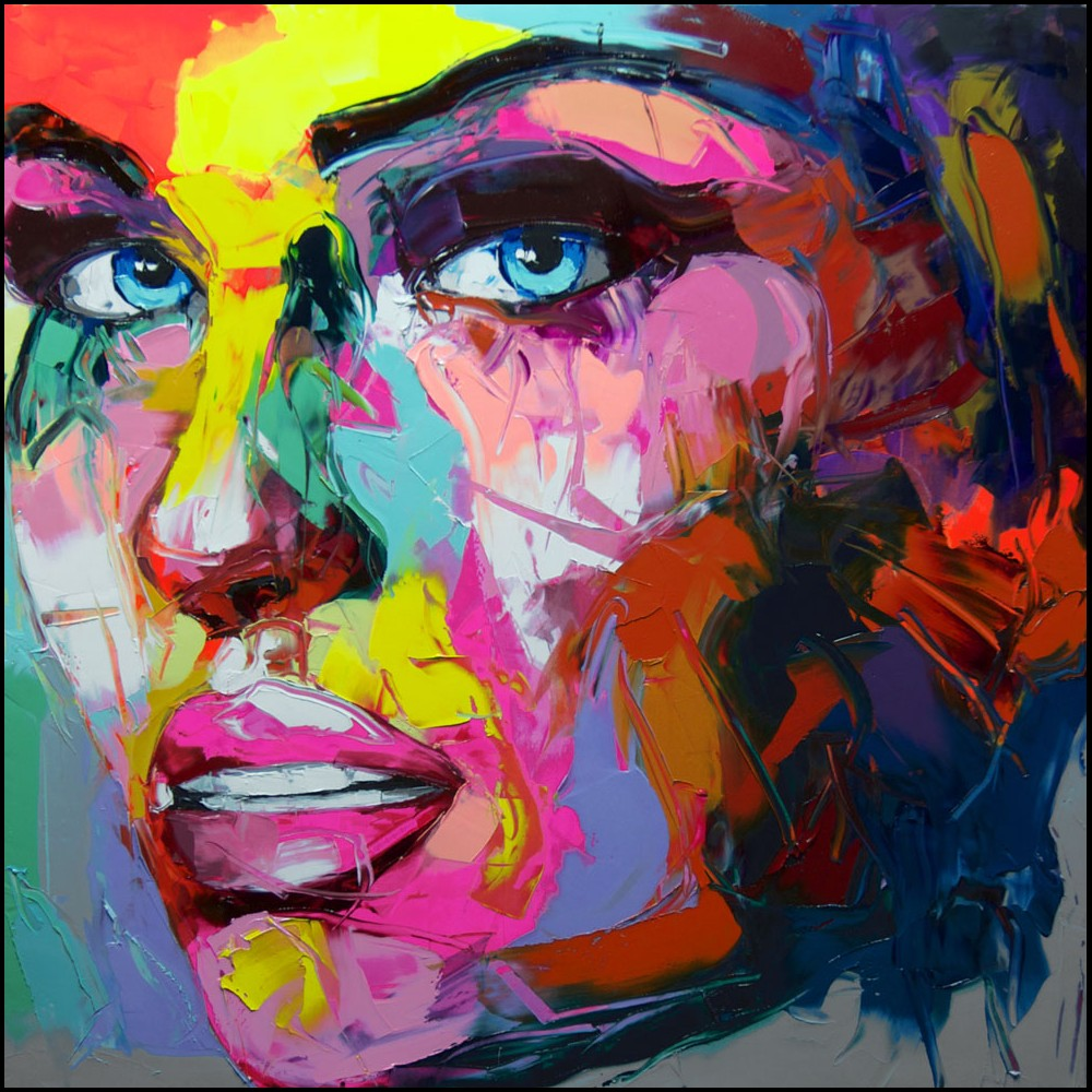 Francoise Nielly Portrait Palette Painting Expression Face182