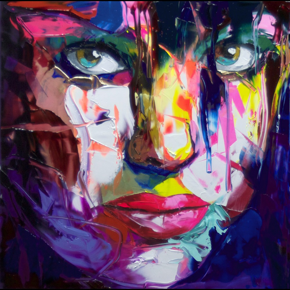 Francoise Nielly Portrait Palette Painting Expression Face186