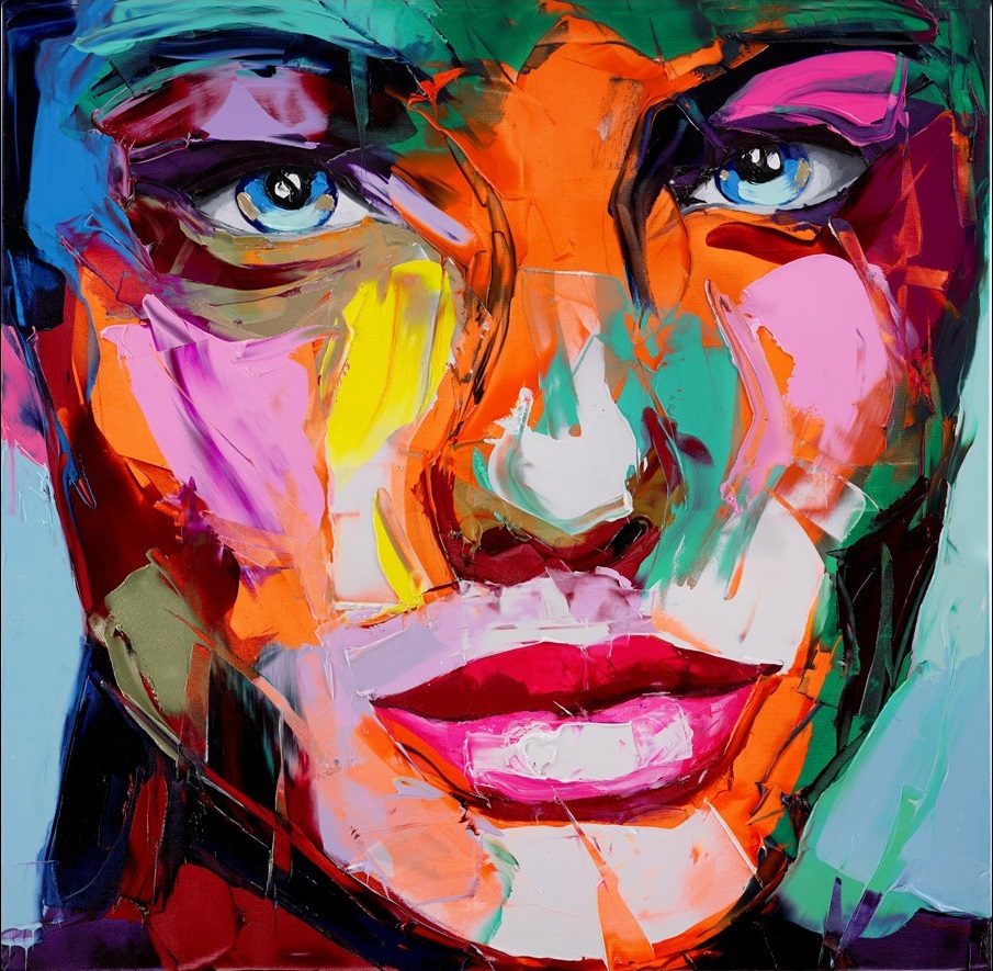 Francoise Nielly Portrait Palette Painting Expression Face202