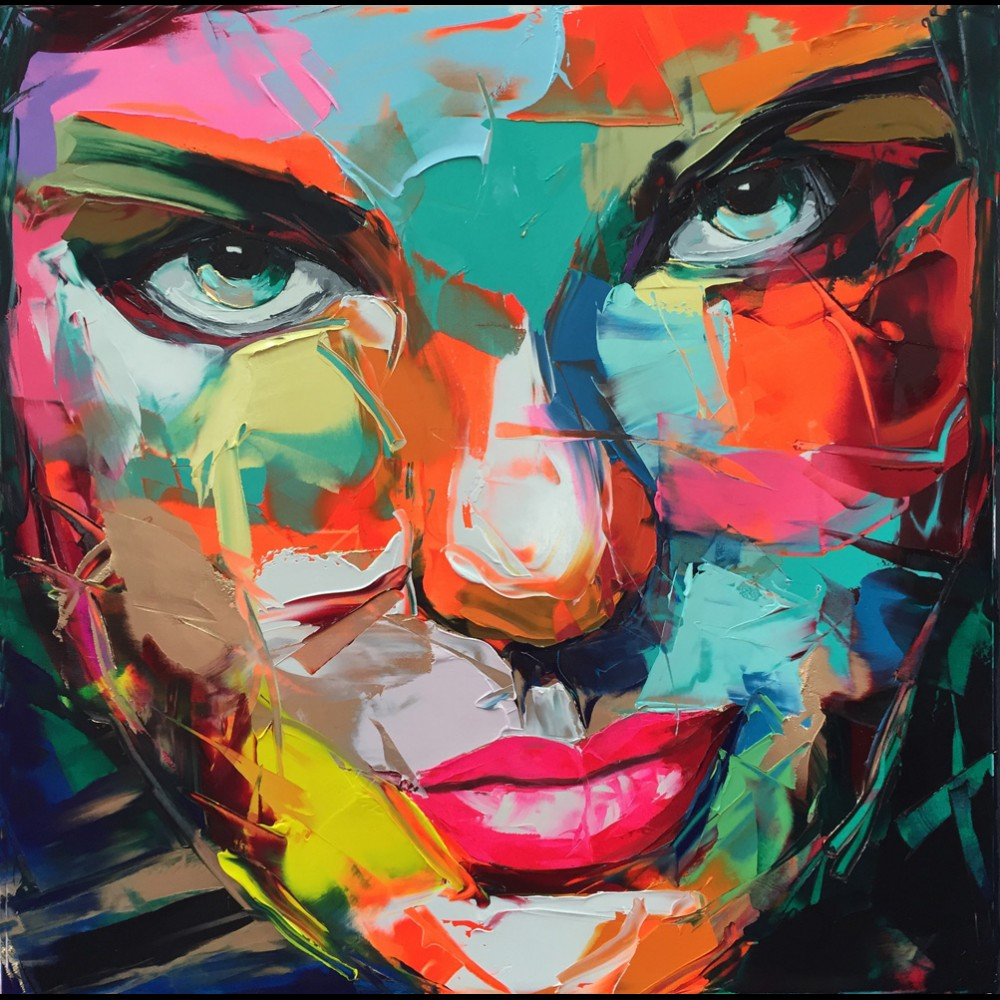 Francoise Nielly Portrait Palette Painting Expression Face206