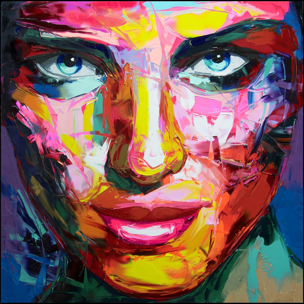 Francoise Nielly Portrait Palette Painting Expression Face219