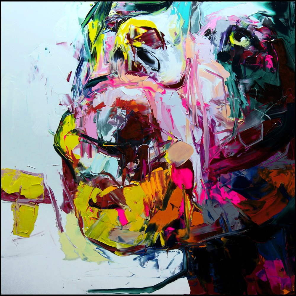 Francoise Nielly Portrait Palette Painting Expression Face221
