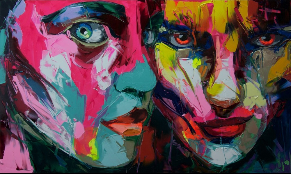 Francoise Nielly Portrait Palette Painting Expression Face233