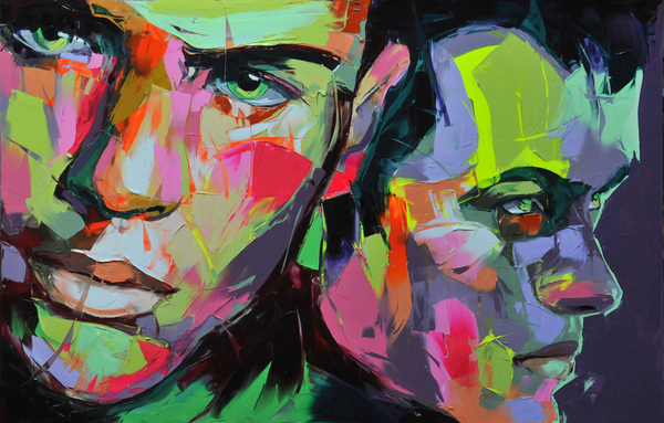Francoise Nielly Portrait Palette Painting Expression Face237