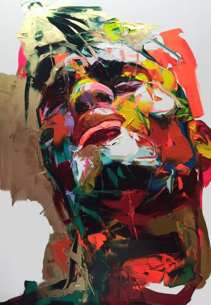 Francoise Nielly Portrait Palette Painting Expression Face252
