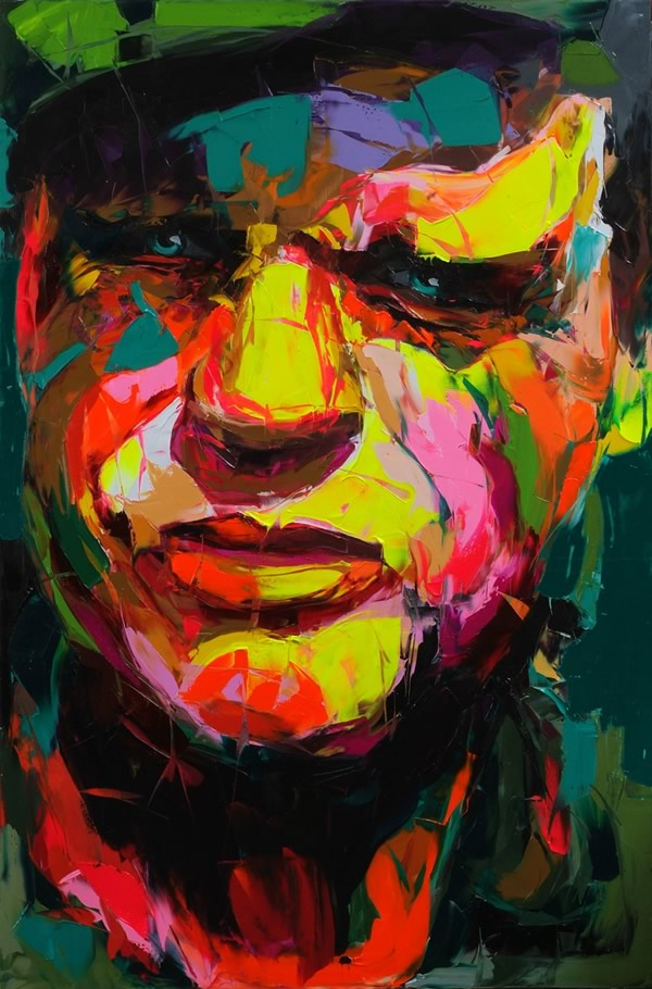 Francoise Nielly Portrait Palette Painting Expression Face253