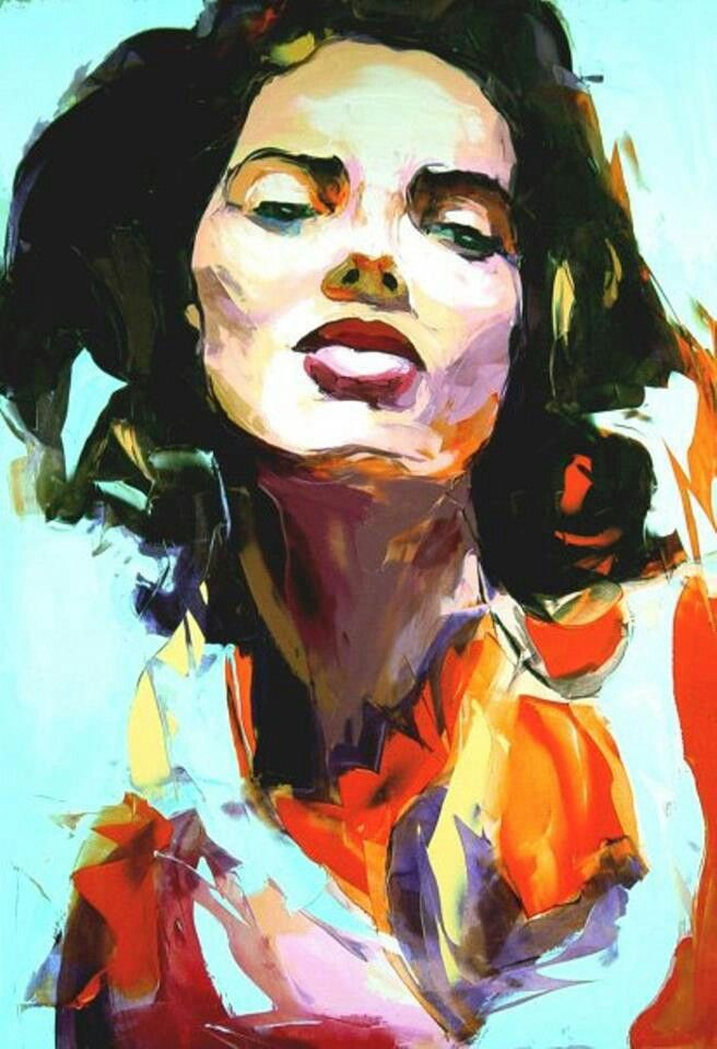 Francoise Nielly Portrait Palette Painting Expression Face255