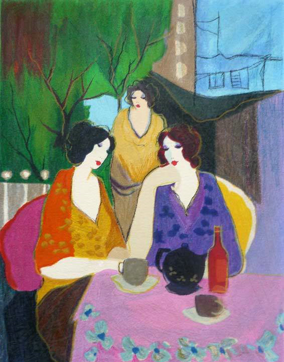 Itzchak Tarkay Oil Painting