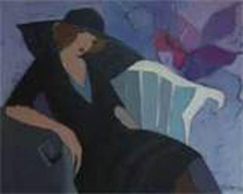 Itzchak Tarkay Oil Painting