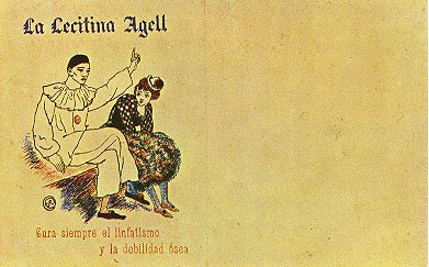 Pablo Picasso Oil Paintings Advertisement For Lecitina Agell