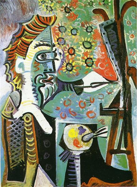 Pablo Picasso Oil Painting An Artist Le Peintre Surrealism