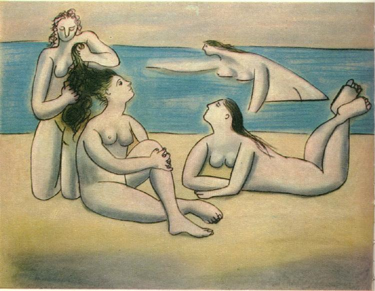 Pablo Picasso Classical Oil Painting Bathers Baigneuses