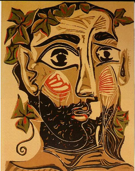 Pablo Picasso Classical Oil Painting Bearded Man Homme Barbu