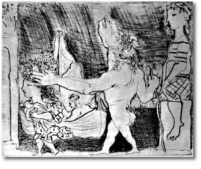 Pablo Picasso Blind Minotaur Is Guided By Girl Surrealism