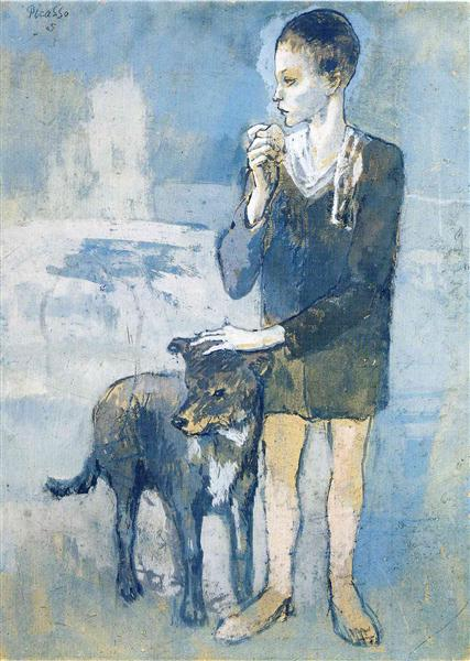 Pablo Picasso Painting Boy With A Dog Expressionism Symbolism
