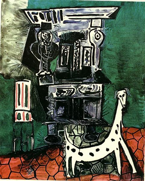 Pablo Picasso Painting Buffet Henry Ii And Armchair With Dog