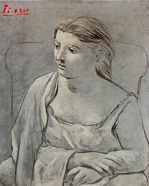 Pablo Picasso Classical Oil Paintings Woman In White