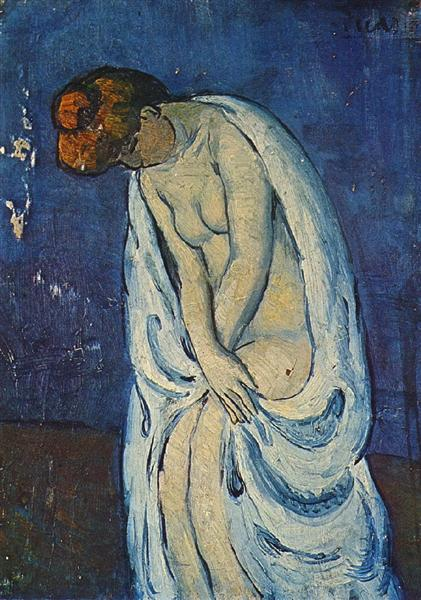 Pablo Picasso Classical Oil Painting Woman Leaving The Bath