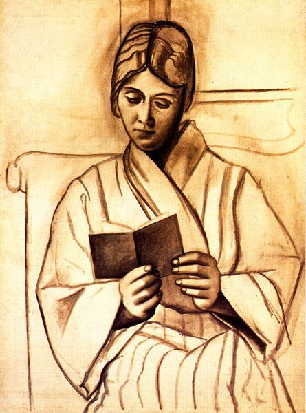 Pablo Picasso Oil Paintings Woman Reading Femme Lisant Olga