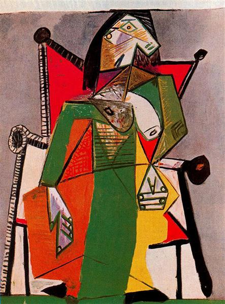Pablo Picasso Painting Woman Sitting In An Armchair Surrealism