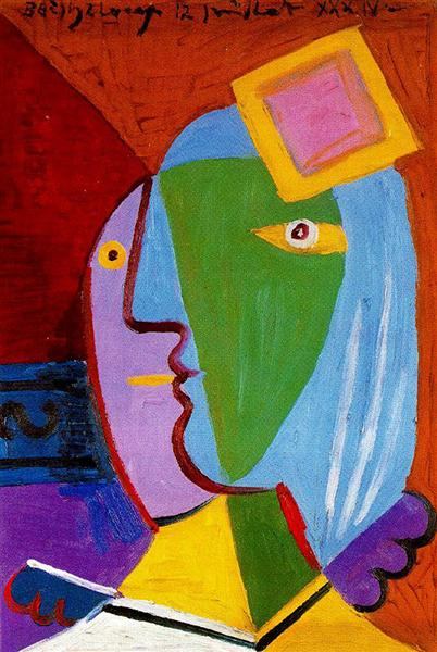 Pablo Picasso Classical Oil Painting Woman With Cap