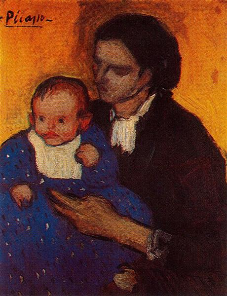 Pablo Picasso Classical Oil Paintings Woman With Child