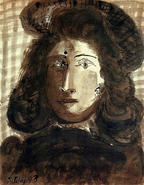 Pablo Picasso Oil Paintings Woman With Hat Female Portraits