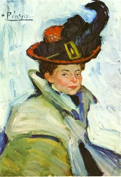 Pablo Picasso Oil Painting Woman With Hat Femme Dans Une Cape