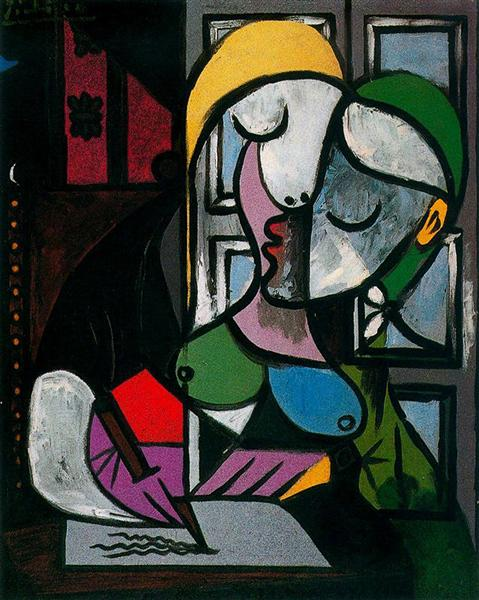 Pablo Picasso Oil Painting Woman Writing Femme Ecrivant