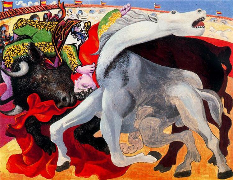Pablo Picasso Classical Oil Paintings Bullfight Surrealism