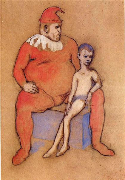 Pablo Picasso Young Acrobat And Clown Bouffon Et Jeune Acrobate