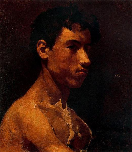 Pablo Picasso Classical Oil Painting Bust Of Young Man