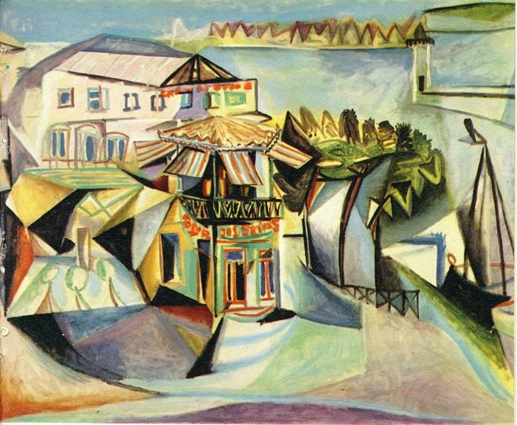 Pablo Picasso Painting Cafe In Royan Streets And Squares