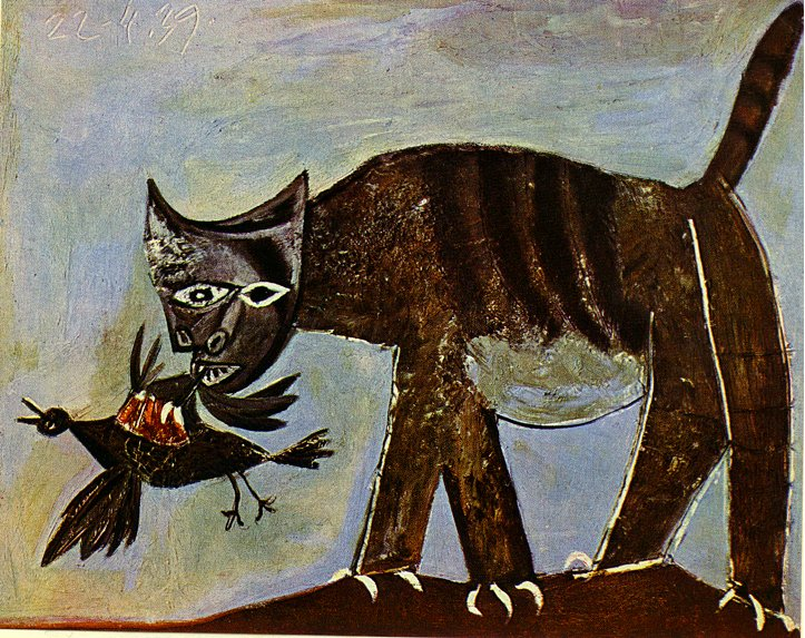 Pablo Picasso Cat Catching A Bird Chat Saisissant Un Oiseau