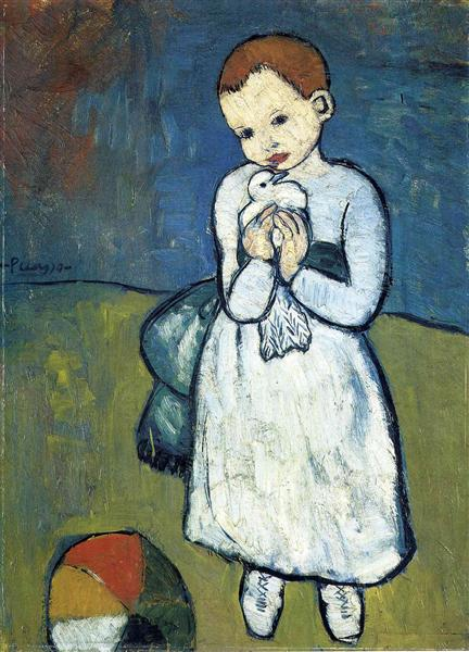 Pablo Picasso Classical Oil Paintings Child With Dove
