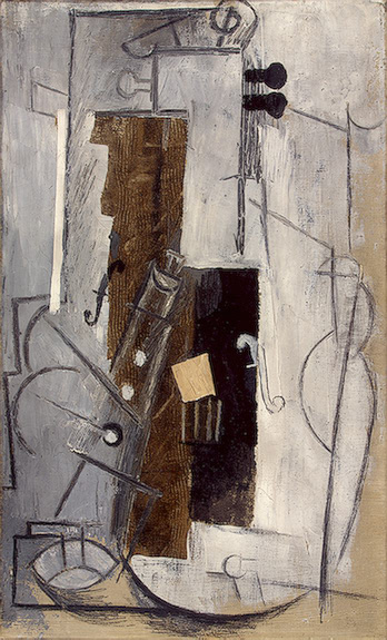 Pablo Picasso Classical Oil Painting Clarinet And Violin