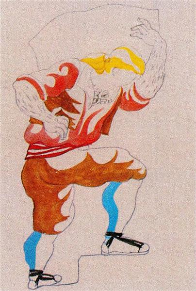 Pablo Picasso Costume Design For Ballet Tricorne Art Nouveau
