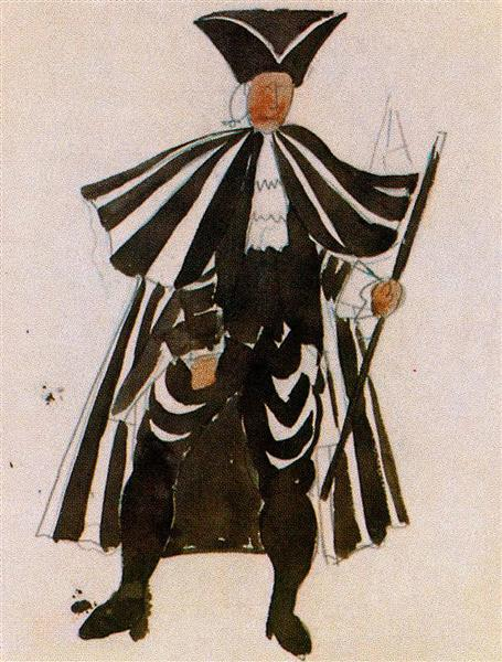 Costume Design For Ballet Tricorne Mordern Oil Painting
