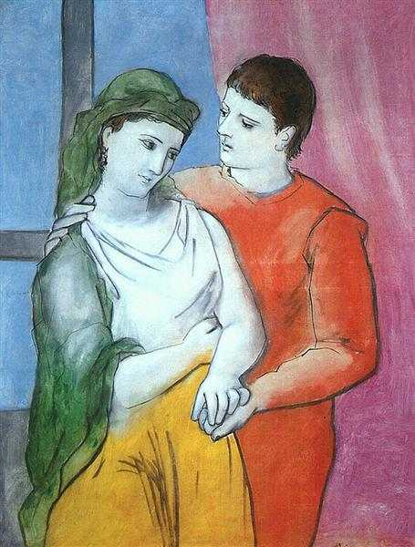 Pablo Picasso Classical Oil Painting Couples Lovers Les Amoureux