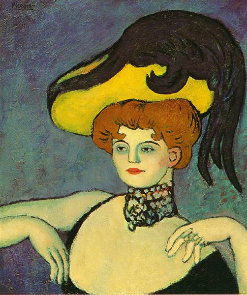 Pablo Picasso Oil Painting Courtesan With Necklace Of Gems
