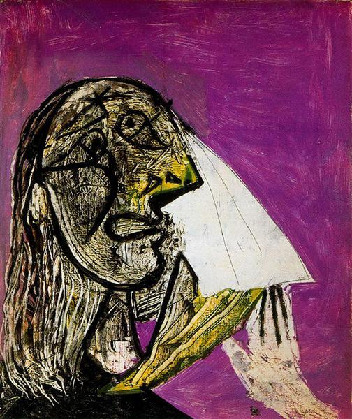 Pablo Picasso Oil Painting Crying Woman La Femme Qui Pleure