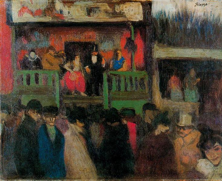 Pablo Picasso Oil Painting Fairground Markets And Shops
