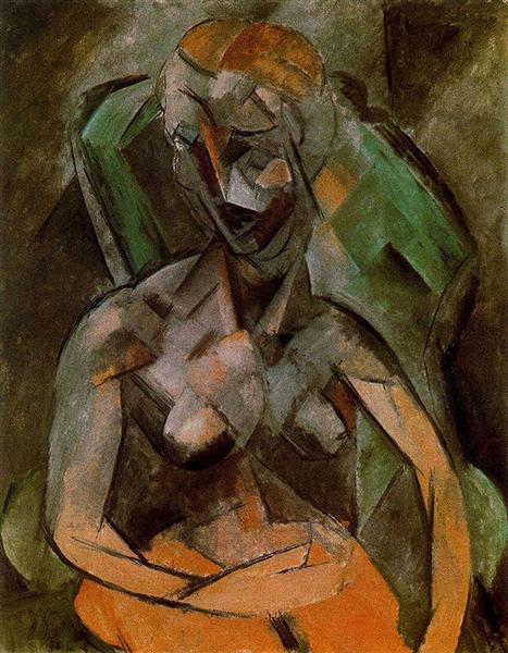 Pablo Picasso Classical Paintings Female Nude Analytical Cubism