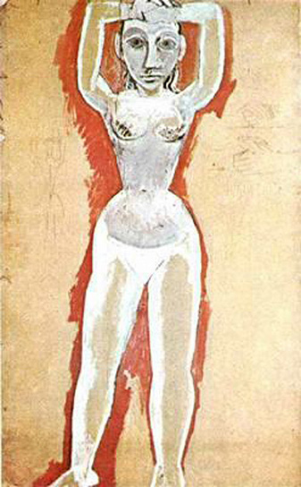 Pablo Picasso Oil Paintings Female Nude With Her Arms Raised
